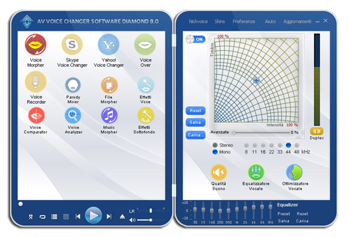 voice changer softare 8.0 diamond's screenshot