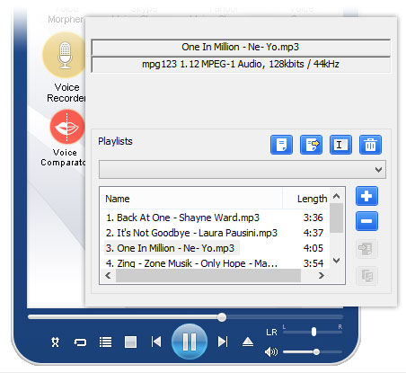 Voice changer software - Music player